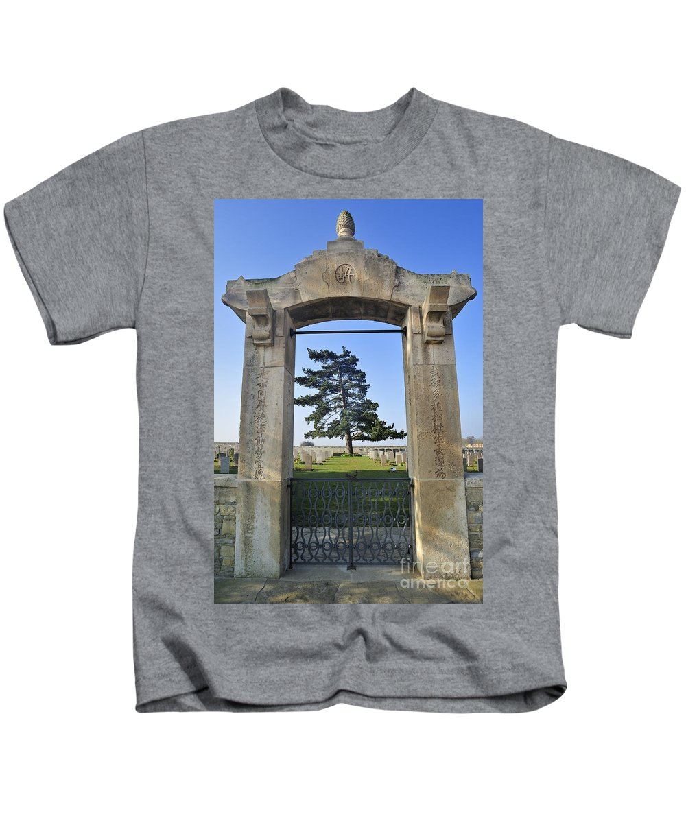 Noyelles-sur-mer Kids T-Shirt featuring the photograph 110307p278 by Arterra Picture Library