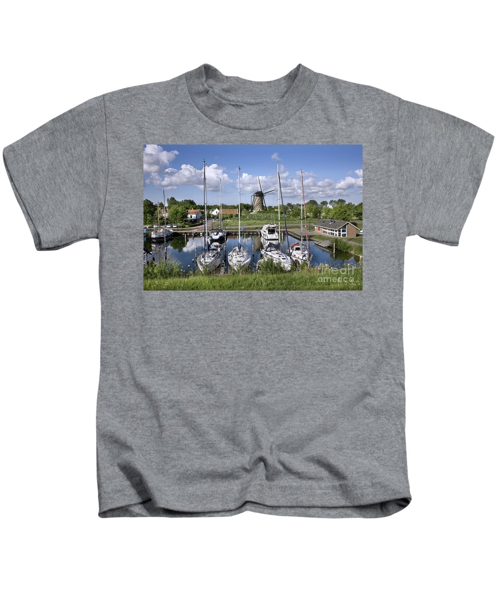 Brouwershaven Kids T-Shirt featuring the photograph 110613p055 by Arterra Picture Library