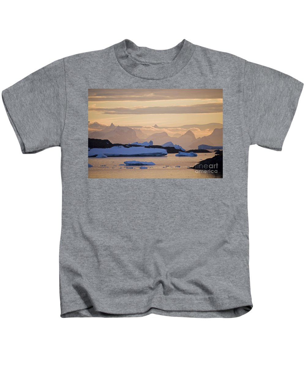 Sunset Kids T-Shirt featuring the photograph 111130p142 by Arterra Picture Library