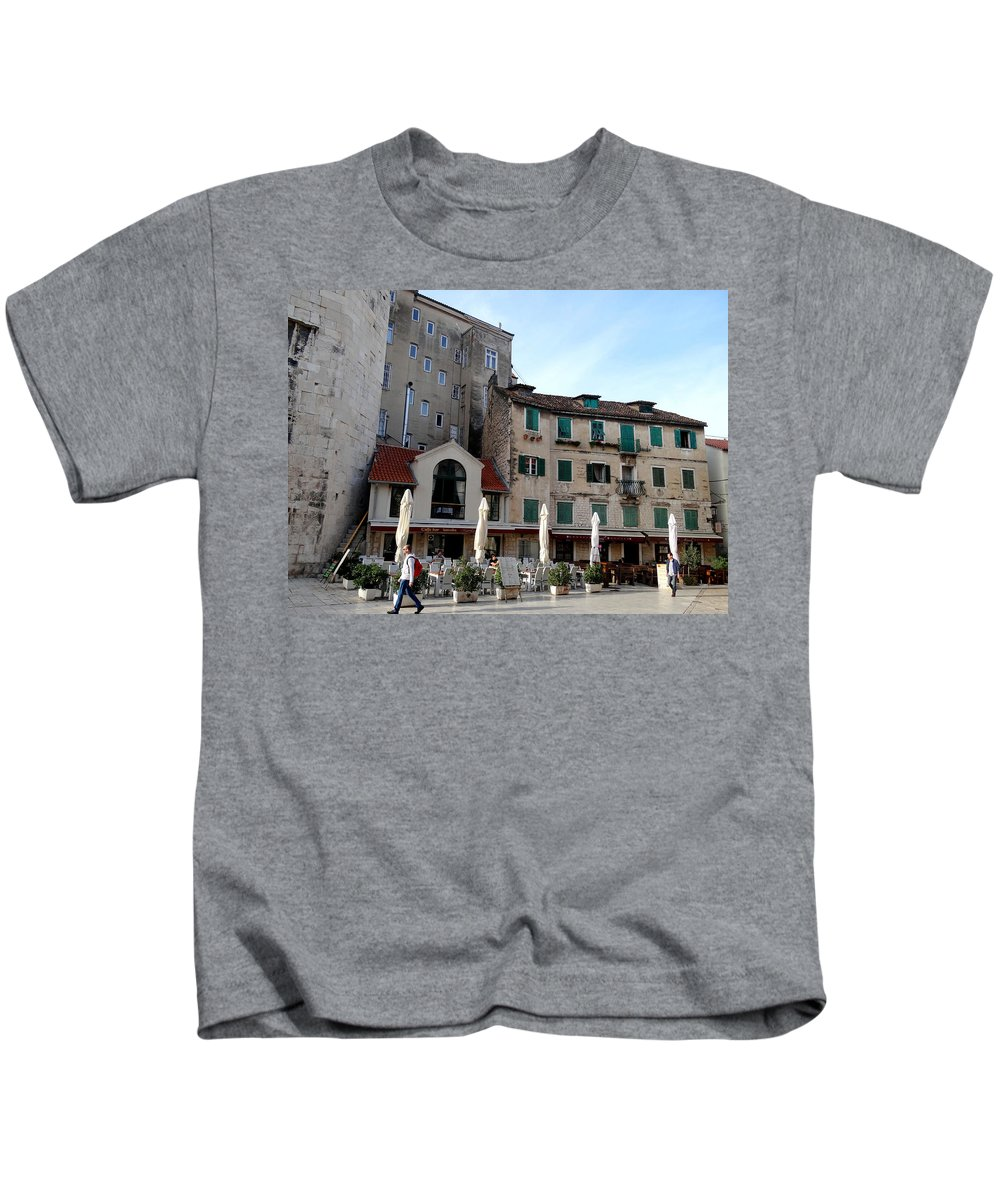 Mediterranean Kids T-Shirt featuring the photograph Views Of Split Croatia by Richard Rosenshein