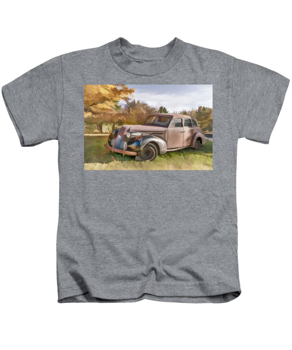 Car Kids T-Shirt featuring the photograph 1939 Buick Special by Ray Summers Photography