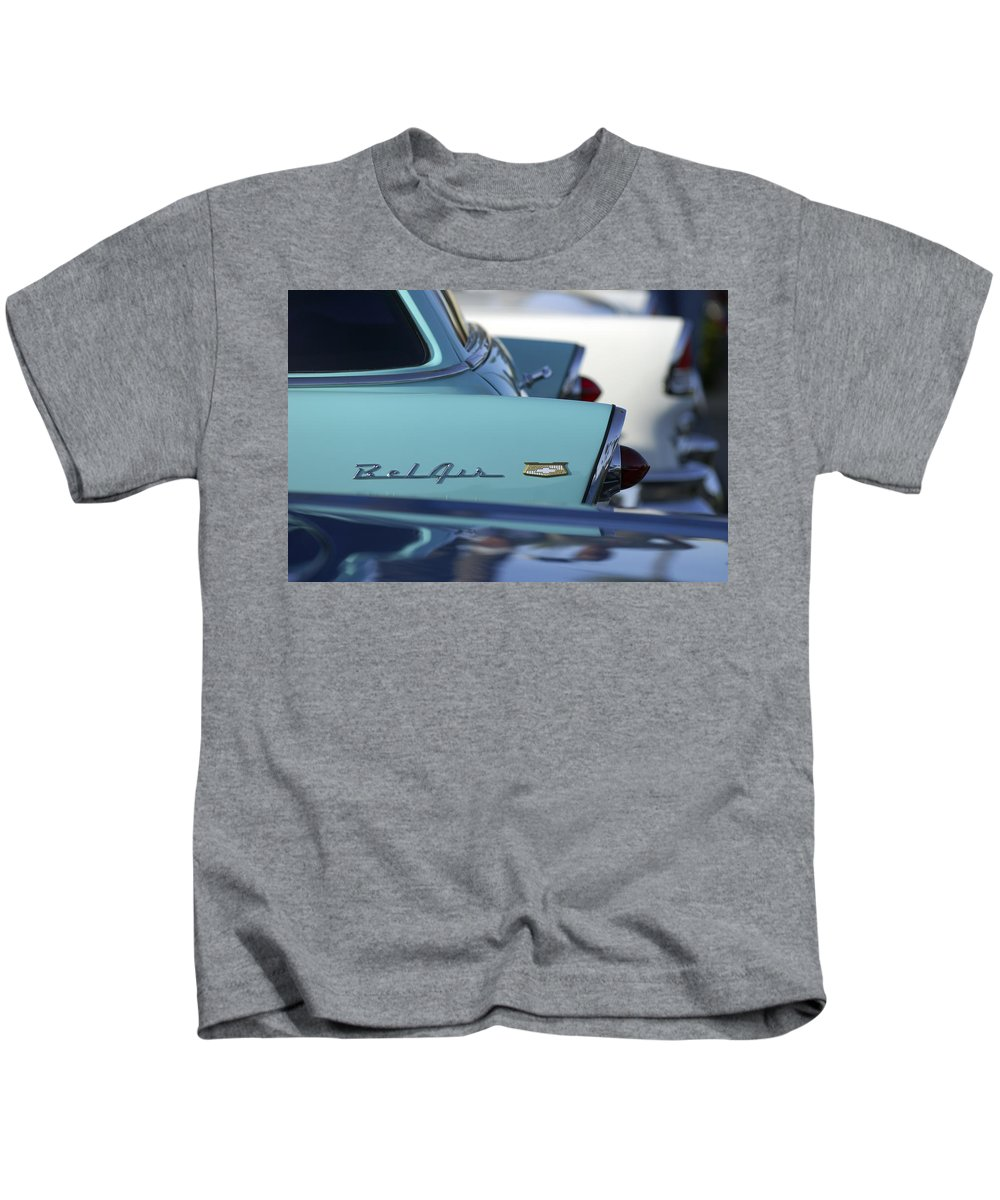 Car Kids T-Shirt featuring the photograph 1956 Chevrolet Belair Nomad Rear End by Jill Reger