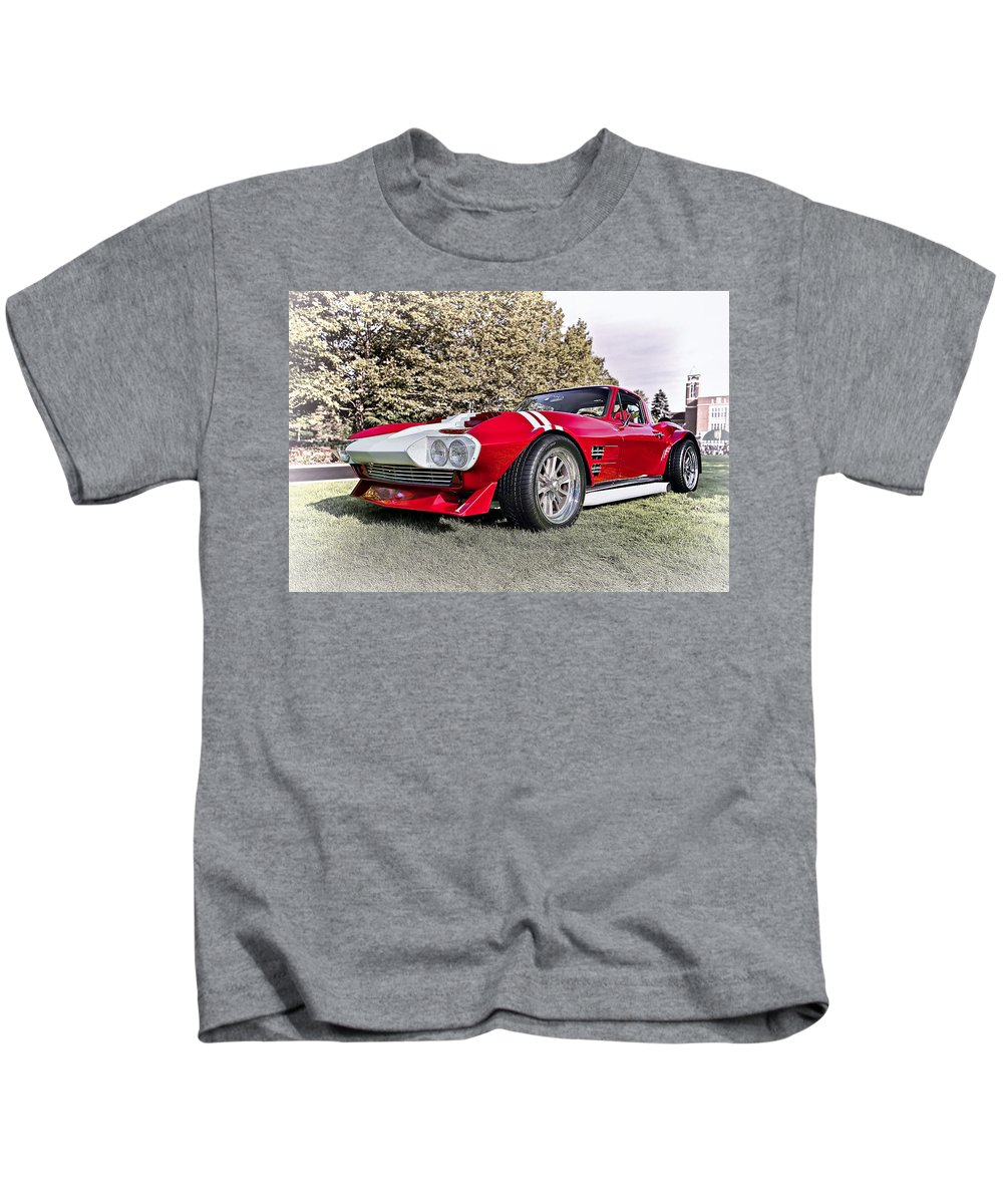 Transportation Kids T-Shirt featuring the photograph 1965 Grand Sport Sebring by Marcia Colelli
