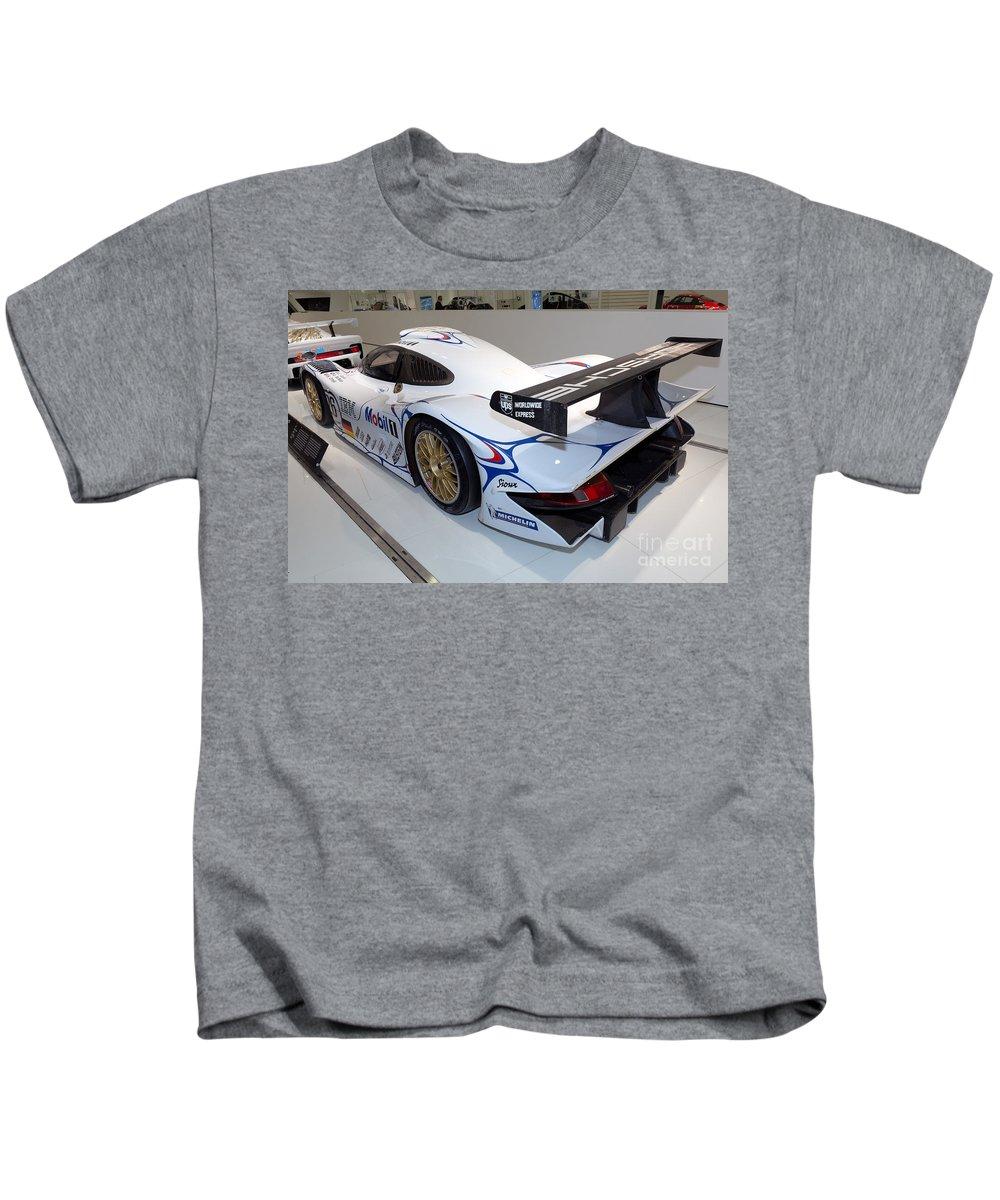 3d Kids T-Shirt featuring the photograph 1998 Porsche 911 Gt1 by Paul Fearn