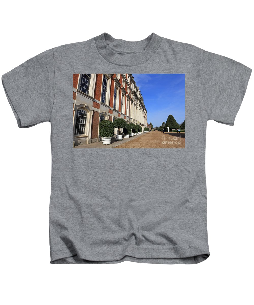 Hampton Court Palace England Kids T-Shirt featuring the photograph Hampton Court Palace England by Julia Gavin