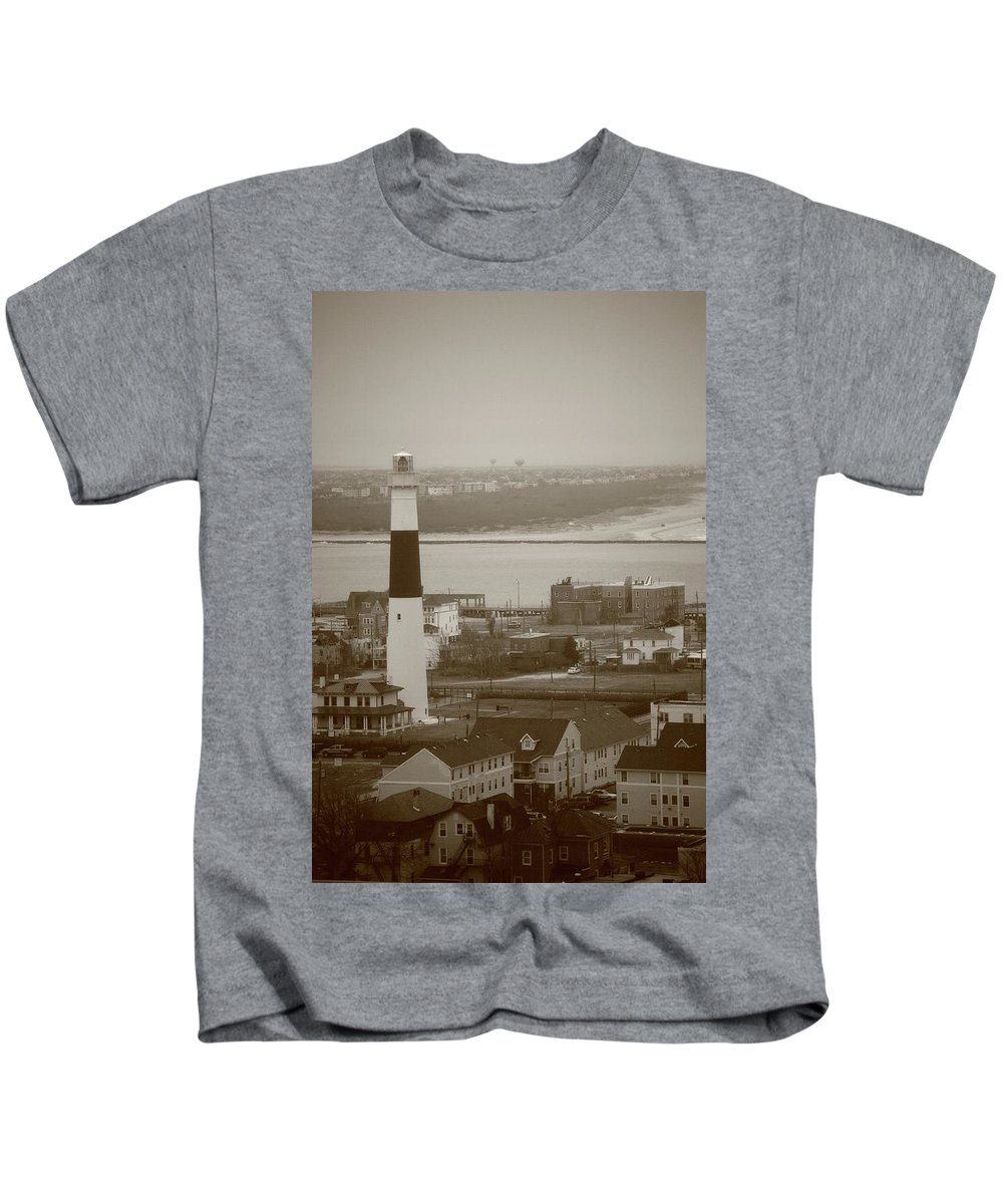 Absecon Kids T-Shirt featuring the photograph Lighthouse - Atlantic City by Frank Romeo
