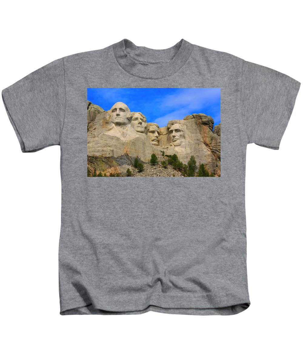 Mount Rushmore Kids T-Shirt featuring the photograph Mount Rushmore South Dakota by Amanda Stadther