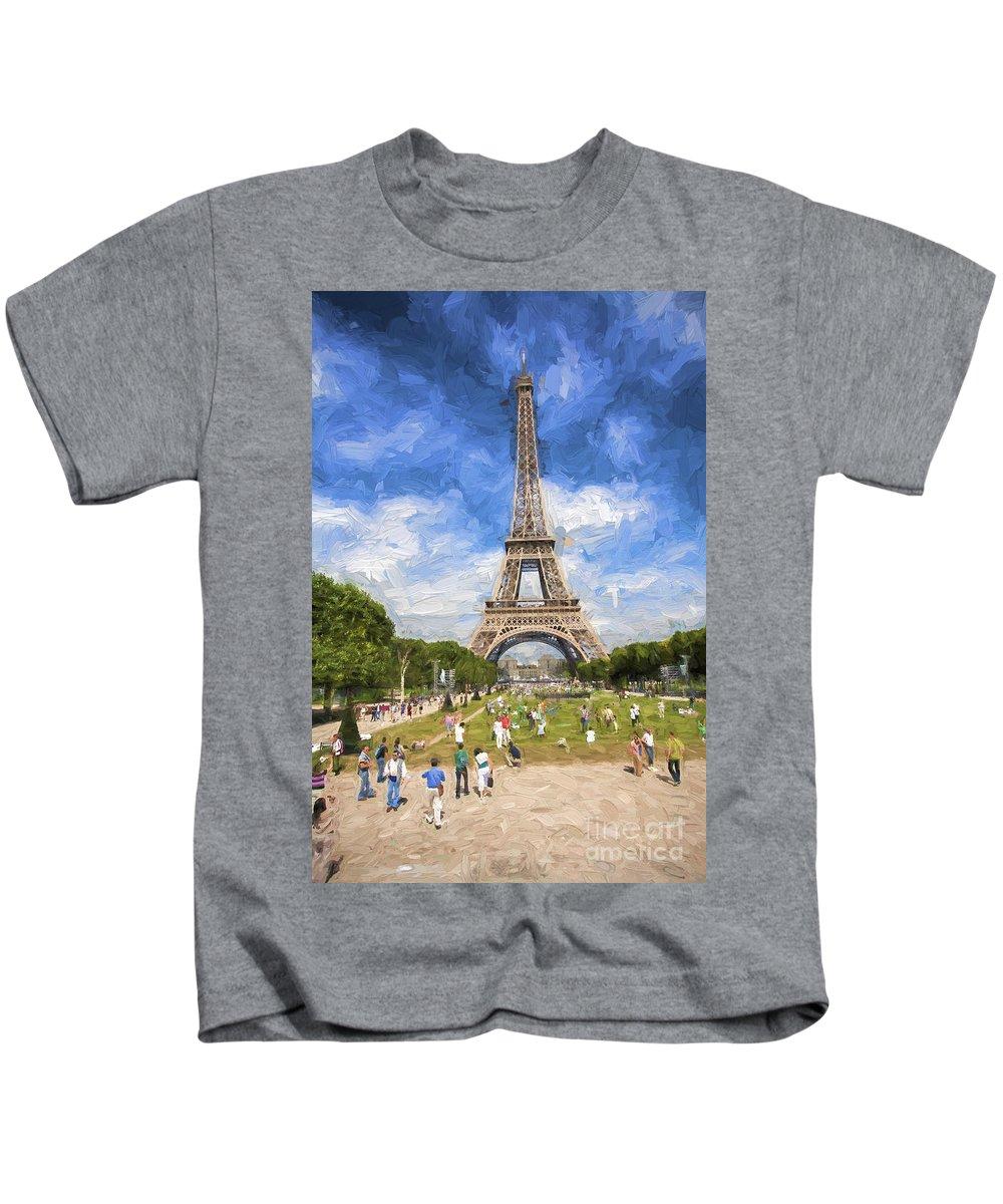 Eiffel Tower Kids T-Shirt featuring the photograph Paris by Sheila Smart Fine Art Photography