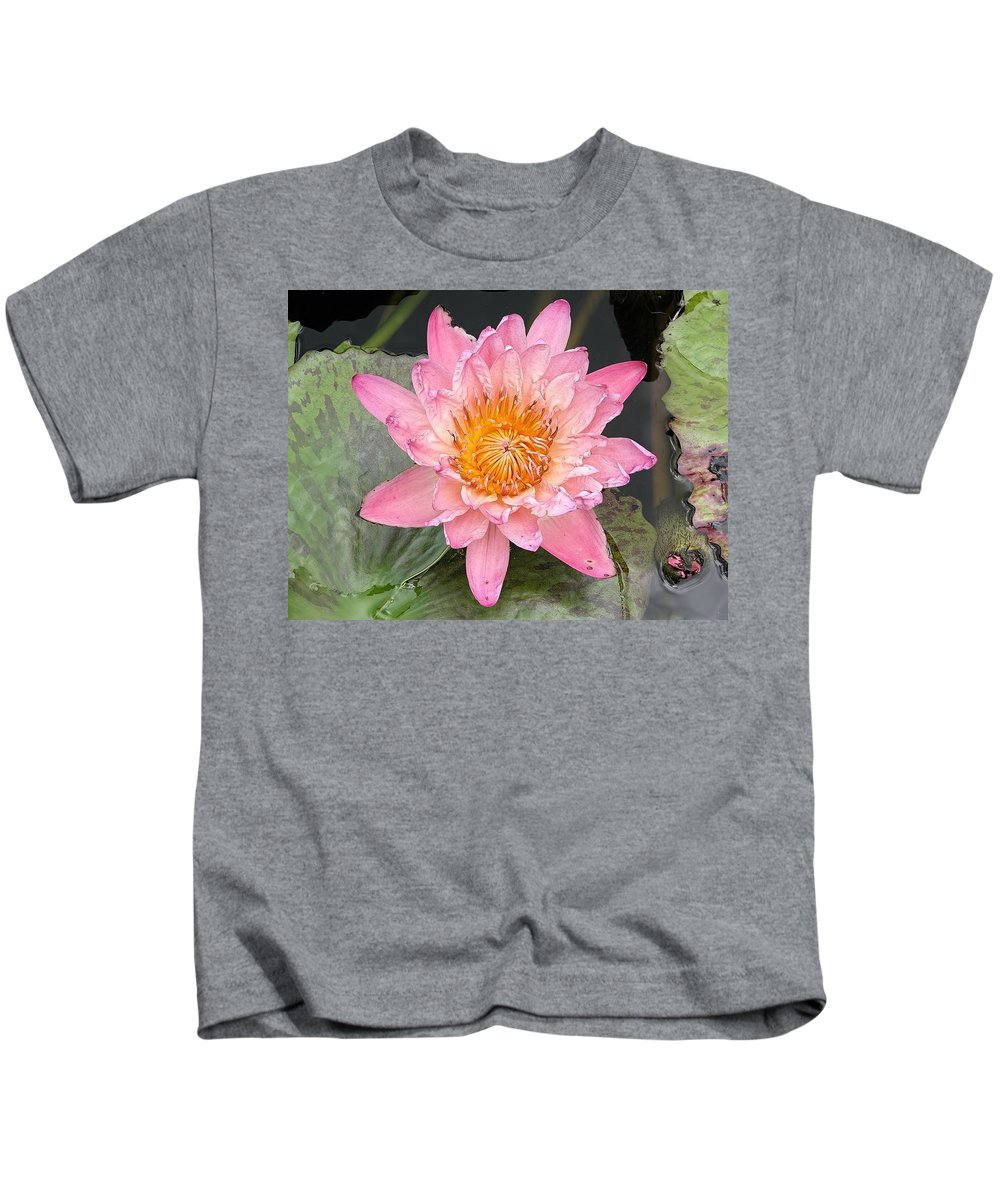Dreaming Kids T-Shirt featuring the photograph Pink Lily by Rudy Umans