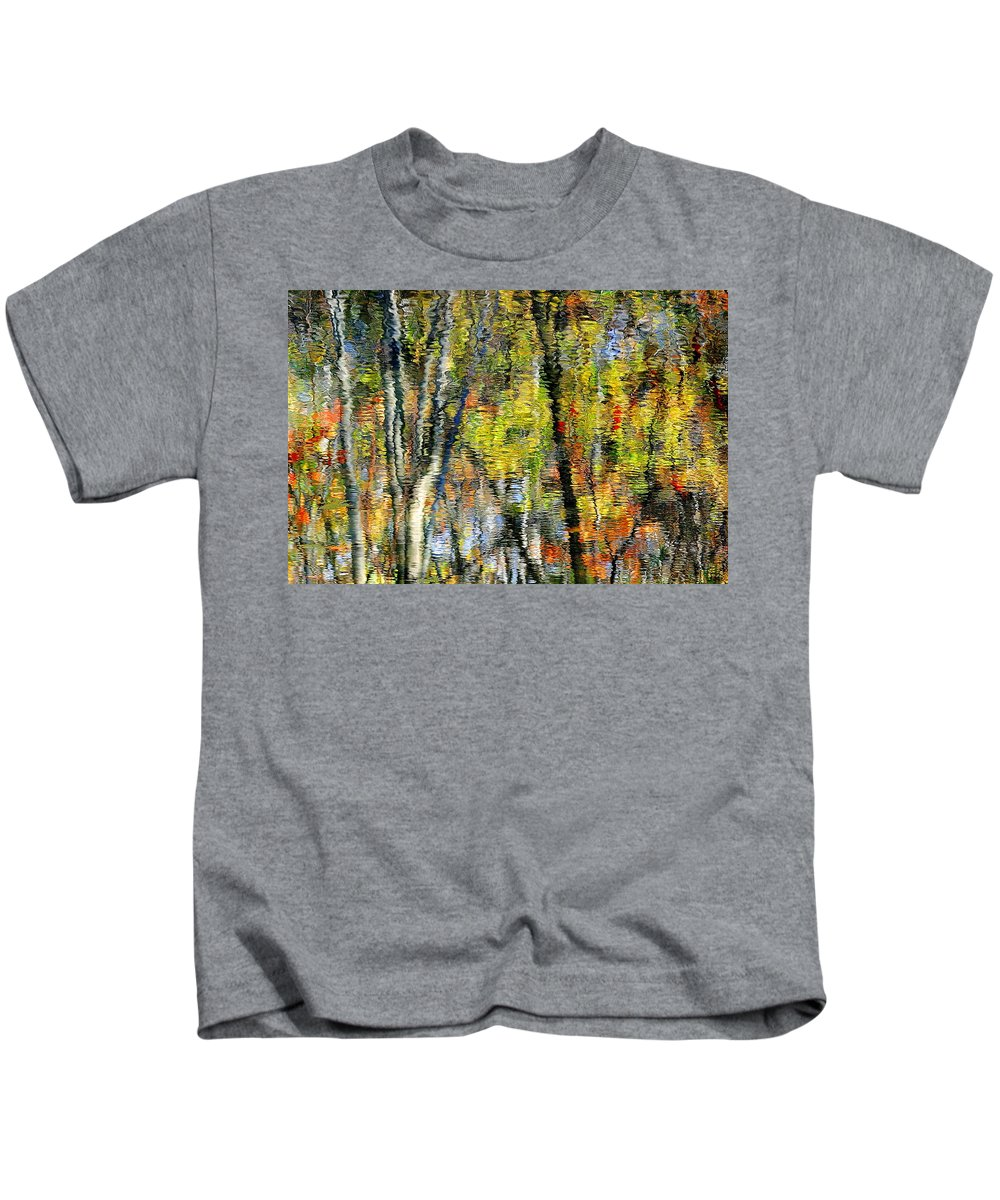 Landscape Kids T-Shirt featuring the photograph Rippley Reflection by Frozen in Time Fine Art Photography