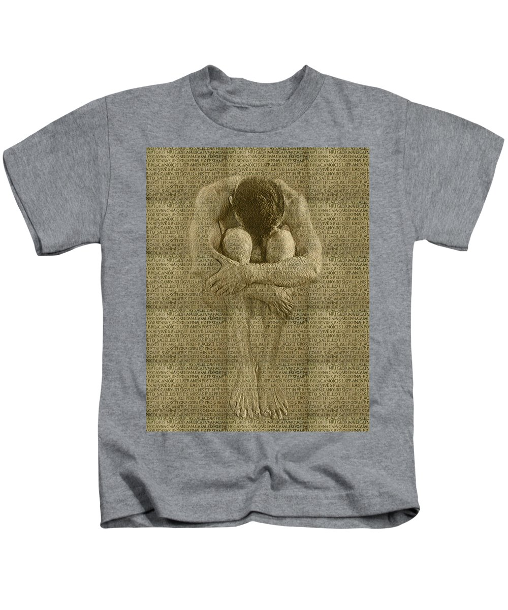 Nudes Kids T-Shirt featuring the photograph The Artist by Kurt Van Wagner