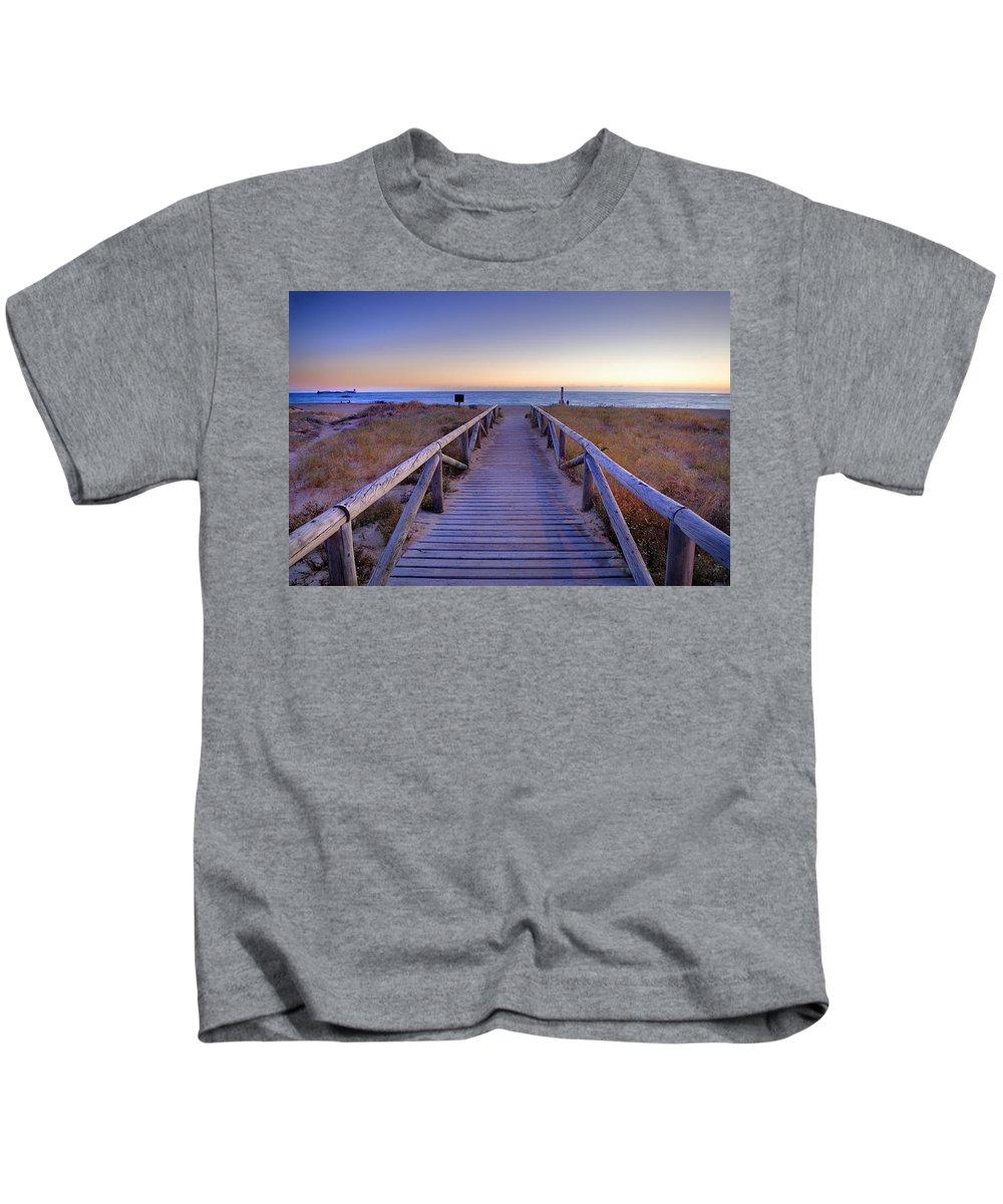 Sancti Petri Kids T-Shirt featuring the photograph The Way by Guido Montanes Castillo