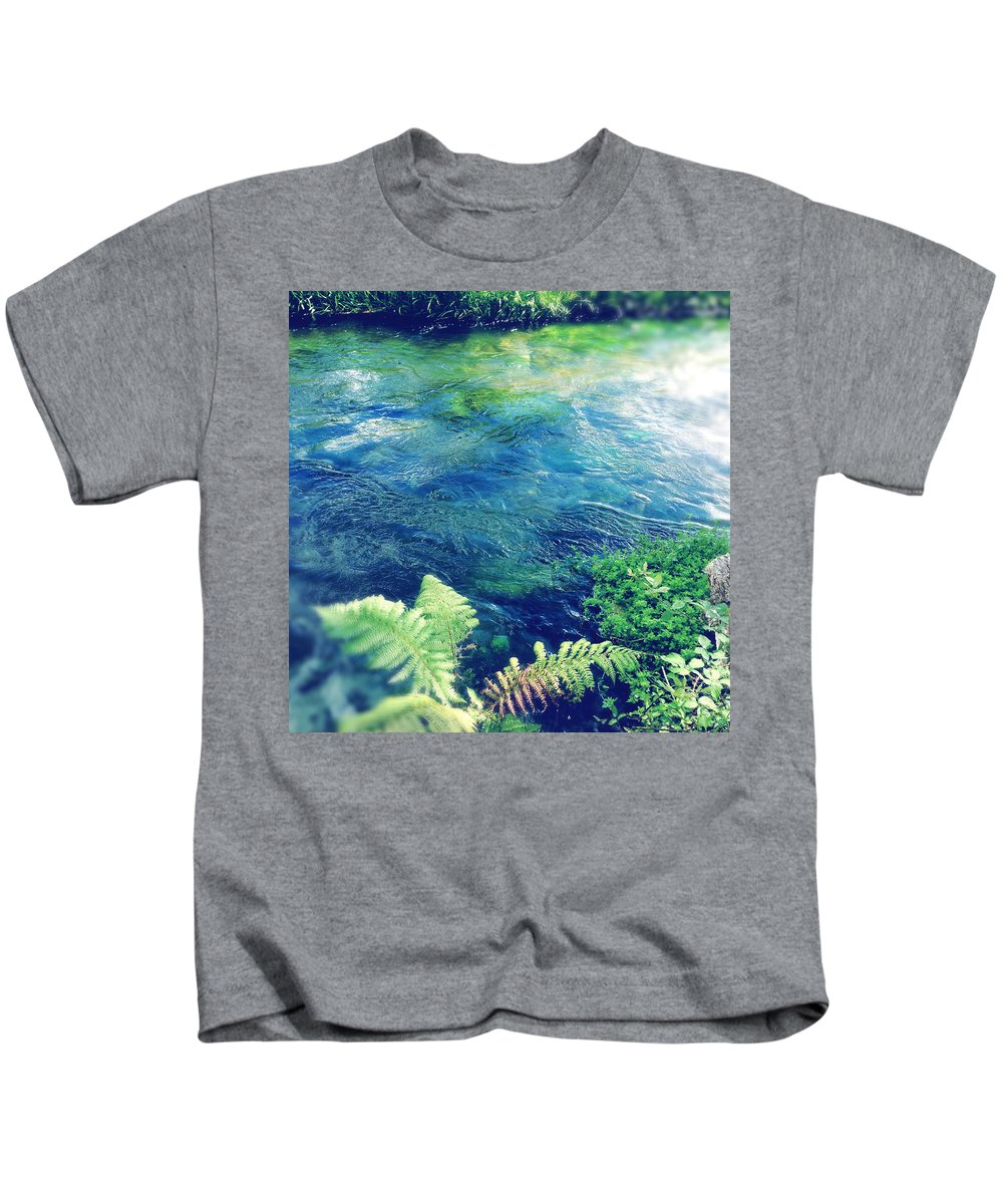 Water Kids T-Shirt featuring the photograph Spring Water by Les Cunliffe
