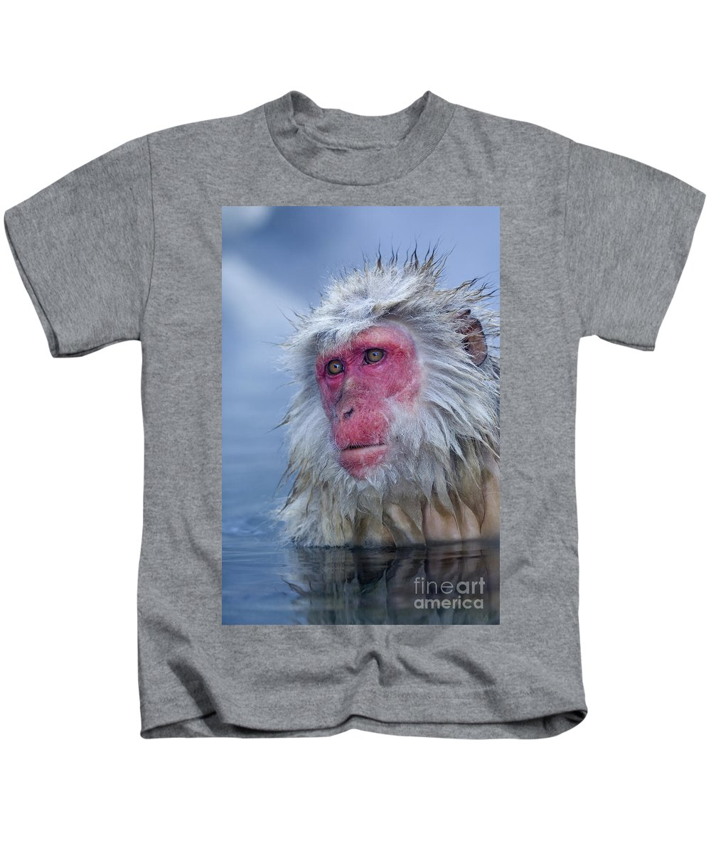 Japanese Macaque Kids T-Shirt featuring the photograph Japanese Macaque by John Shaw