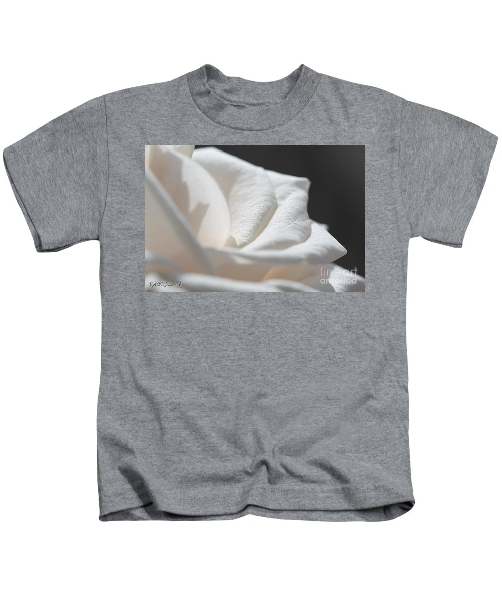 Mccombie Kids T-Shirt featuring the photograph Long-stemmed White Rose by J McCombie