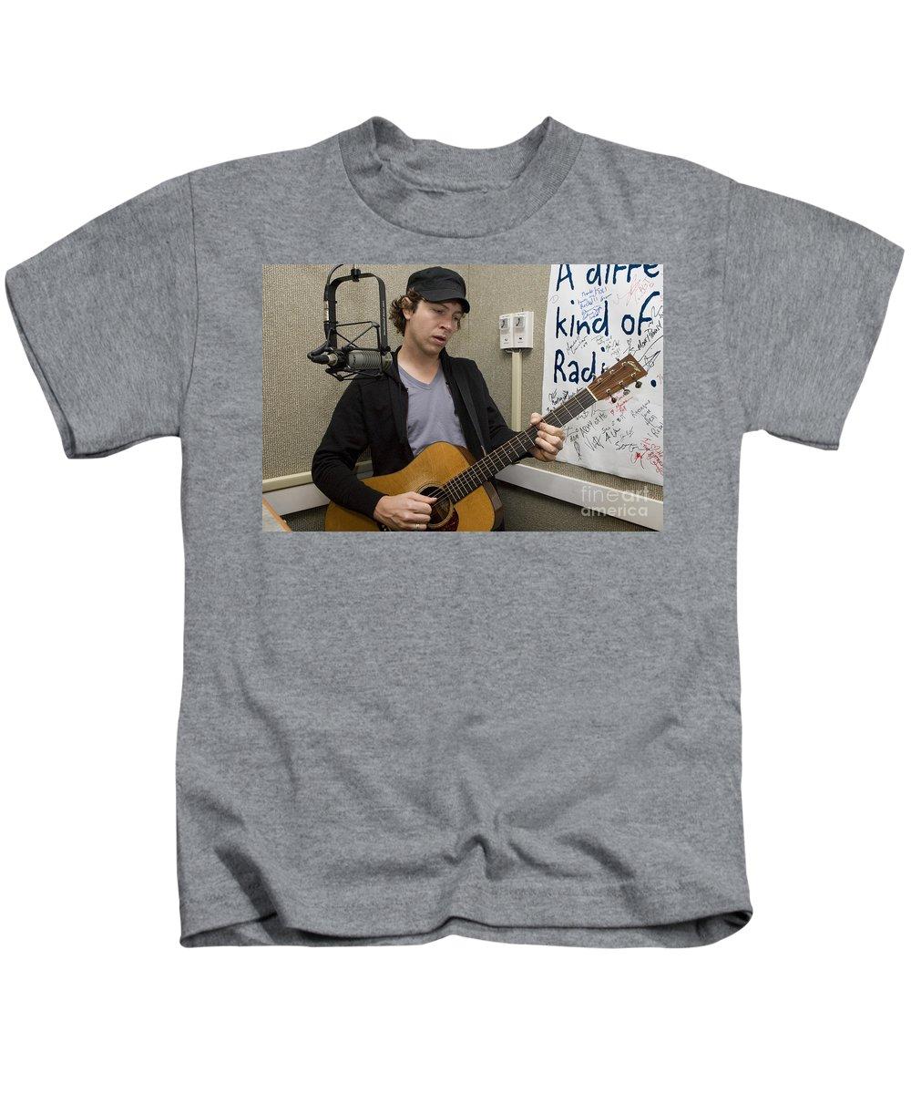 Recording Artist Kids T-Shirt featuring the photograph Matt Wertz by Jason O Watson