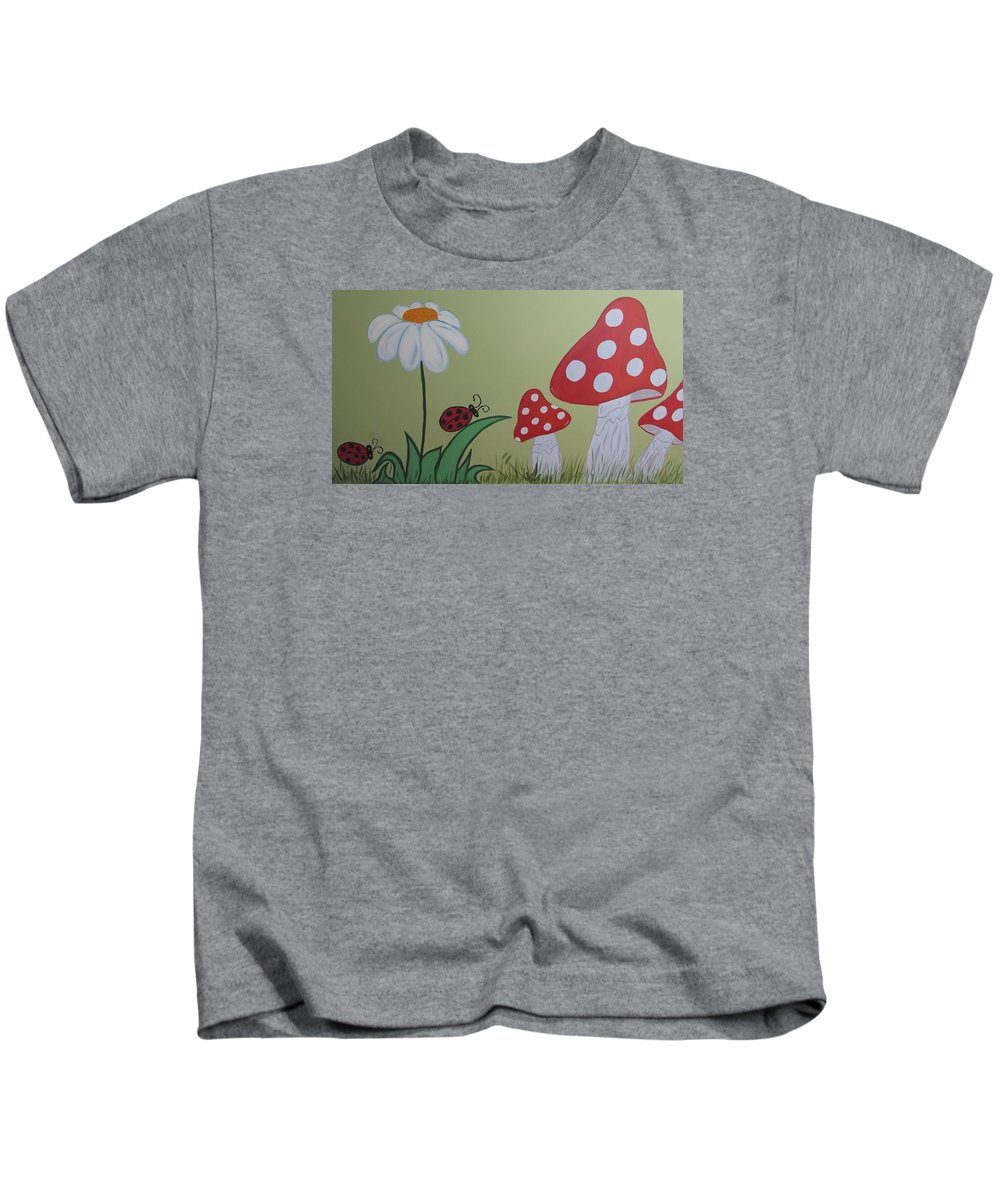 Wall Painting For Nursery Kids T-Shirt featuring the painting Wall Painting by Galina Khlupina
