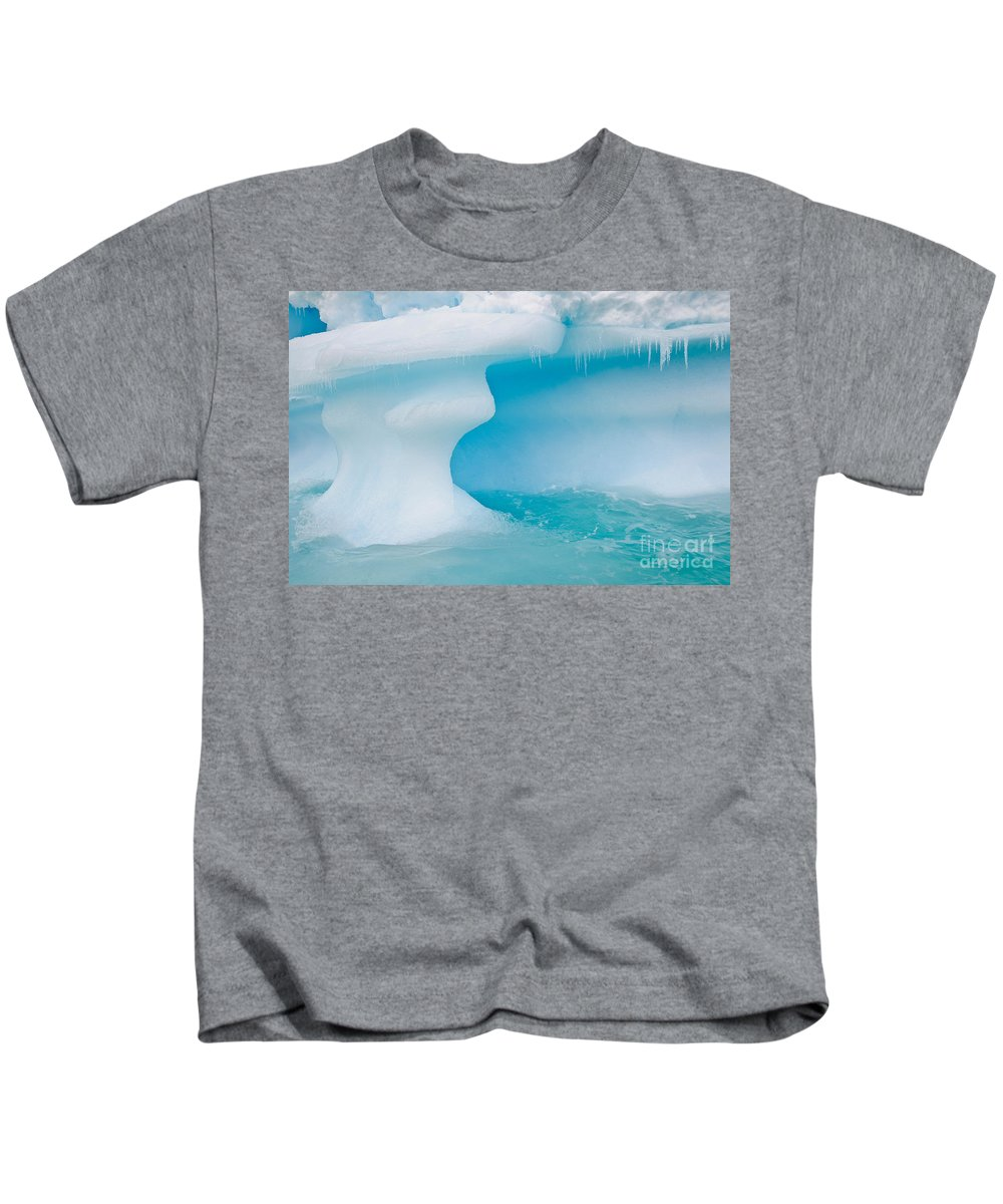 Nature Kids T-Shirt featuring the photograph Iceberg, Antarctica by John Shaw