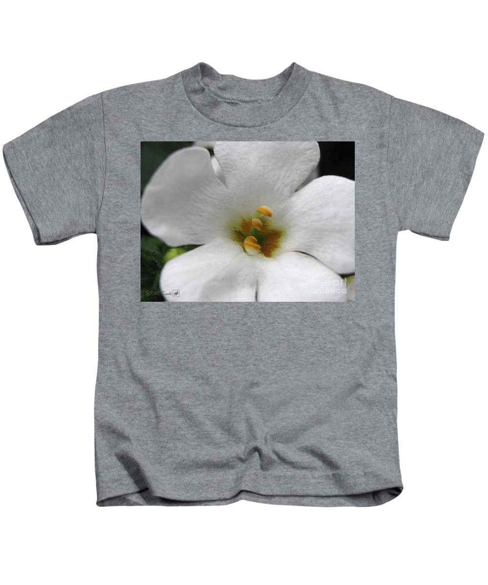 Bacopa Kids T-Shirt featuring the digital art Bacopa Named Snowtopia by J McCombie