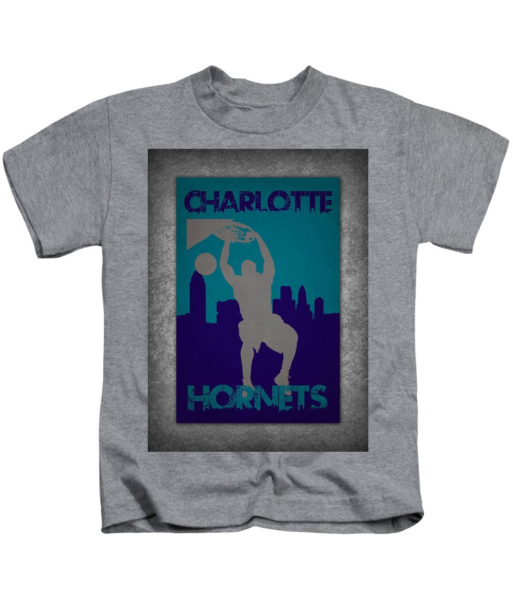 Hornets Kids T-Shirt featuring the photograph Charlotte Hornets by Joe Hamilton