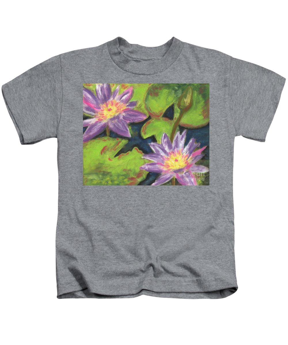 Pond Kids T-Shirt featuring the painting Water Lilies I by Vicki Baun Barry