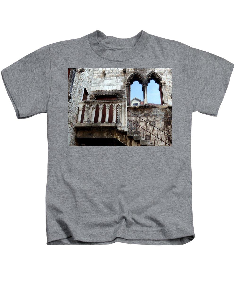 Split Croatia Kids T-Shirt featuring the photograph Views Of Split Croatia by Richard Rosenshein