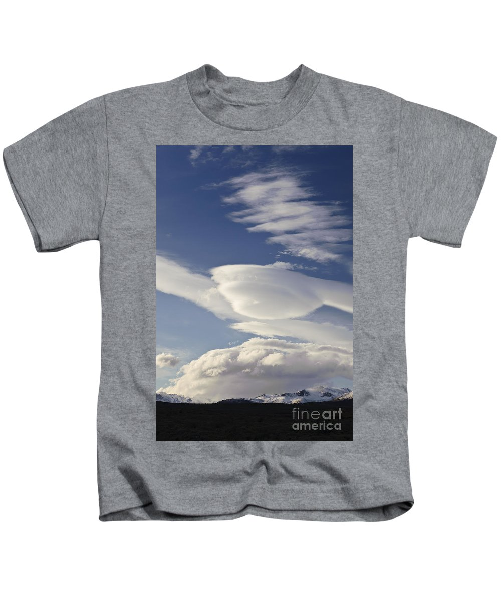 Argentina Kids T-Shirt featuring the photograph Lenticular Clouds by John Shaw