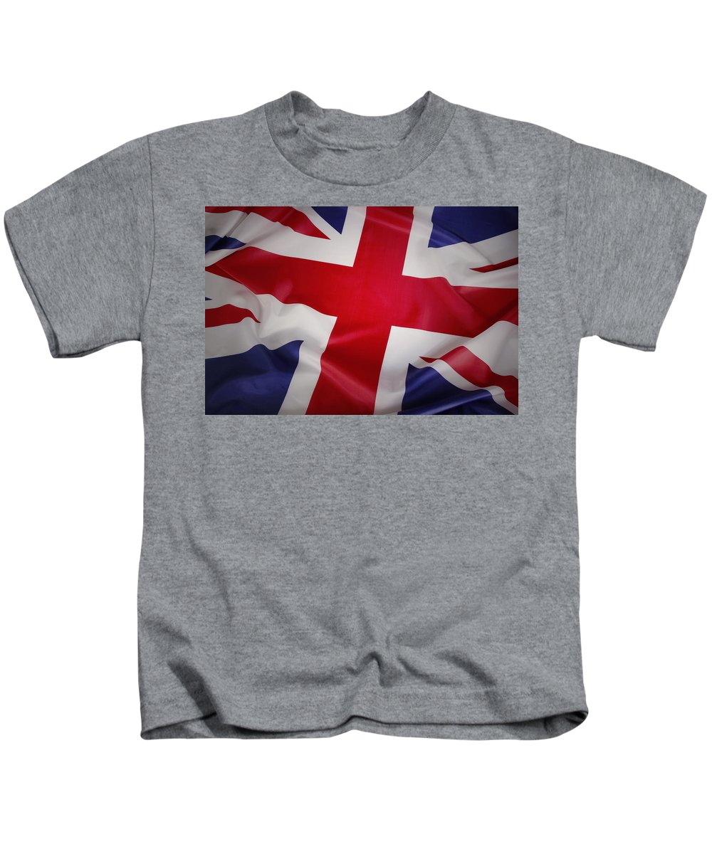 Flag Kids T-Shirt featuring the photograph Flag by Les Cunliffe
