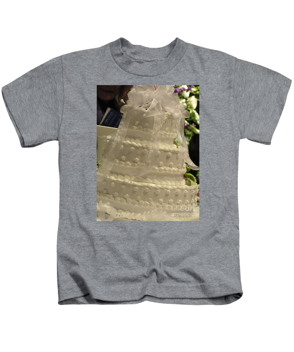 #775 D138 Cake All White.jpg Kids T-Shirt featuring the photograph #775 D138 Cake All White by Robin Lee Mccarthy Photography