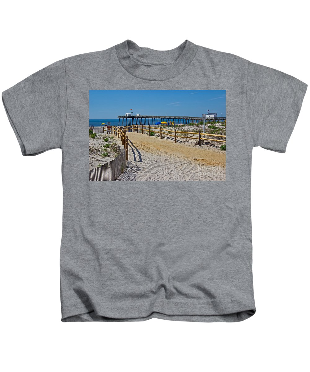 Nature Kids T-Shirt featuring the photograph A Day At The Beach by Tom Gari Gallery-Three-Photography