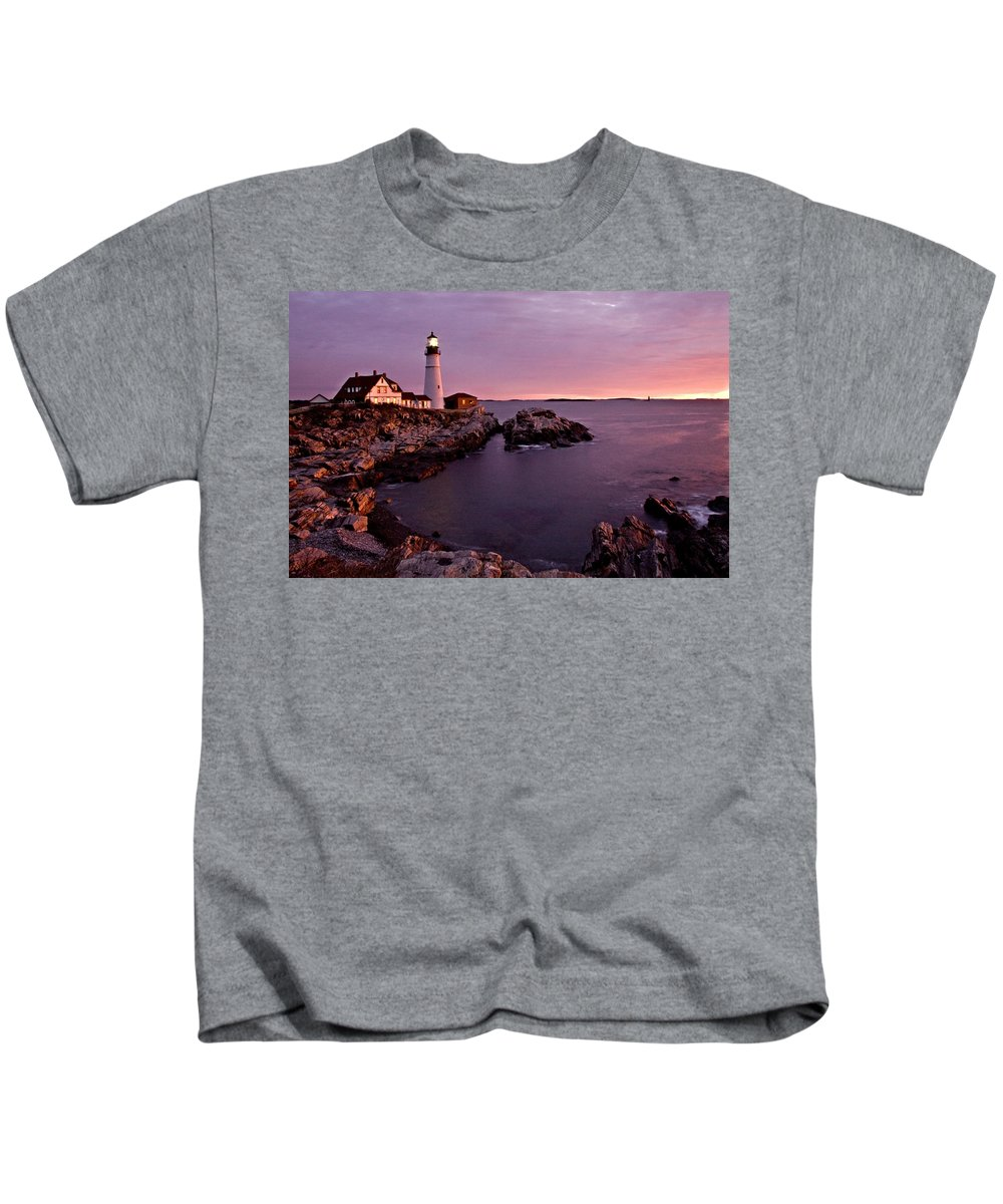 Lighthouse Kids T-Shirt featuring the photograph A Quiet Time by Paul Schreiber