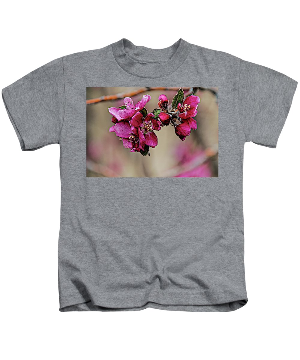Spring Kids T-Shirt featuring the photograph A Sign Of Spring by Charles Muhle
