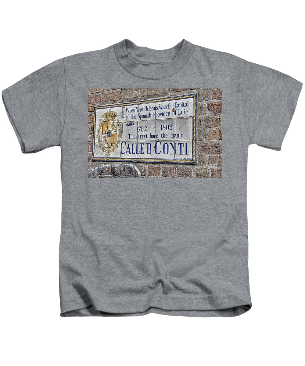 Characteristics Kids T-Shirt featuring the photograph A Street Called Conti by Douglas Barnard