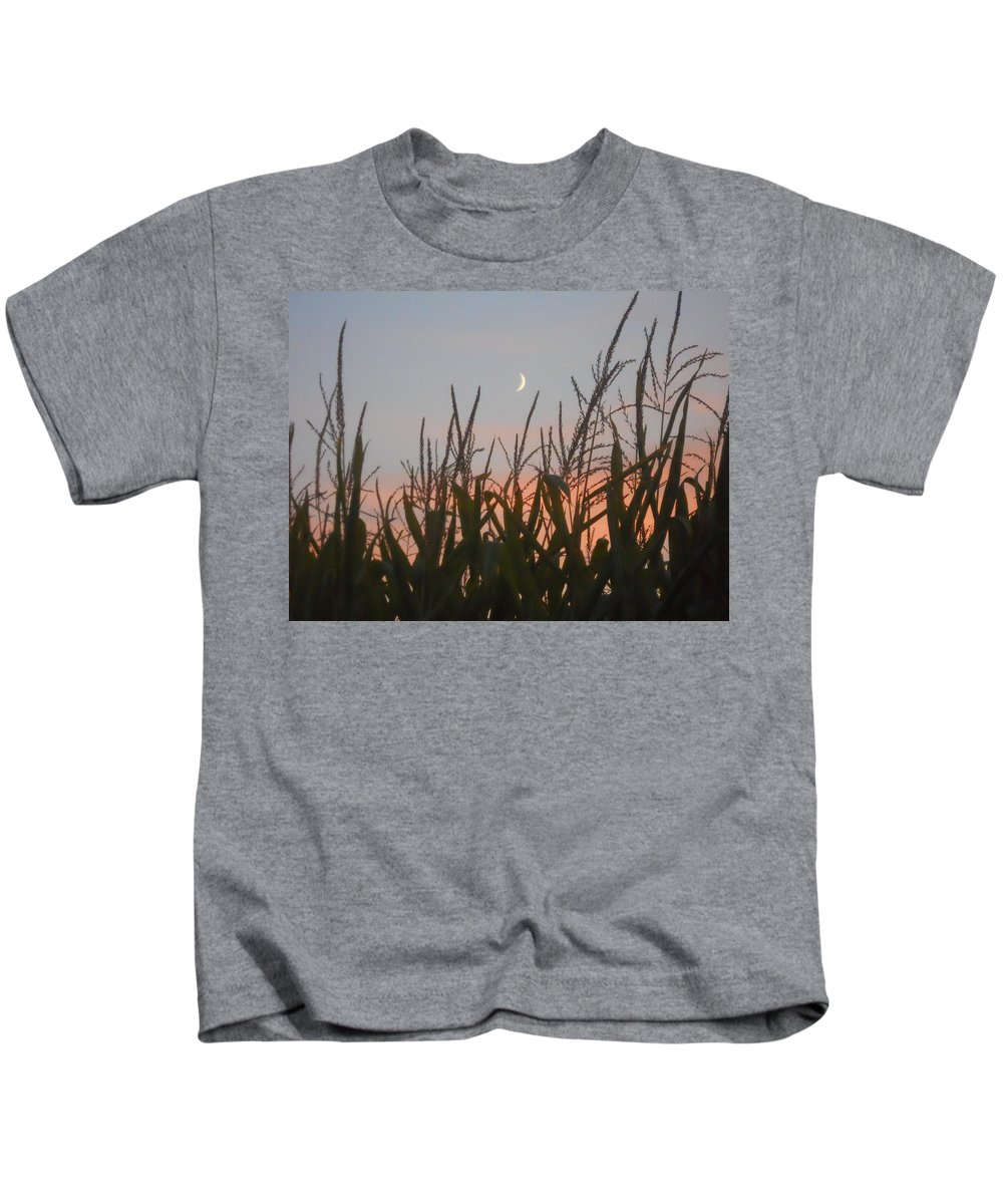 Corn Kids T-Shirt featuring the photograph A Touch Of Pink by Coleen Harty