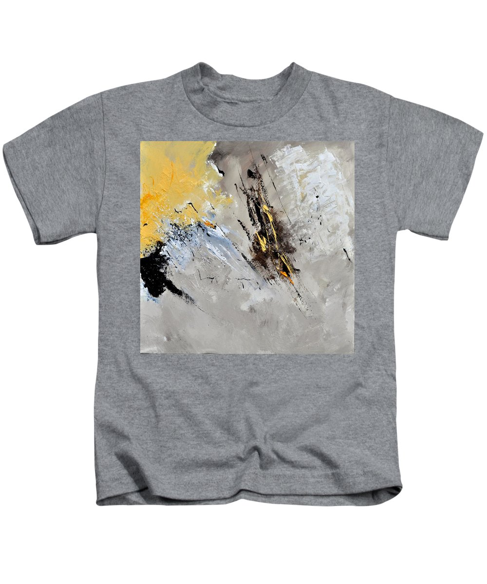 Abstract Kids T-Shirt featuring the painting Abstract 8831801 by Pol Ledent