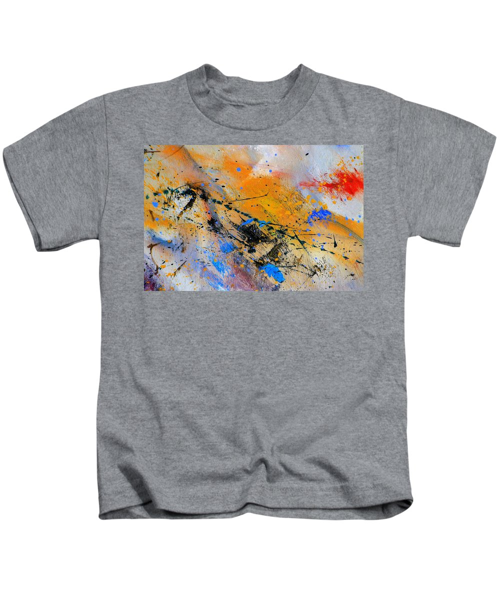 Abstract Kids T-Shirt featuring the painting Abstract 965943 by Pol Ledent