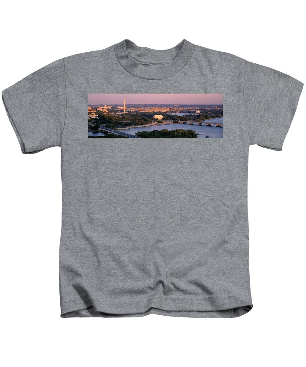 Photography Kids T-Shirt featuring the photograph Aerial, Washington Dc, District Of by Panoramic Images