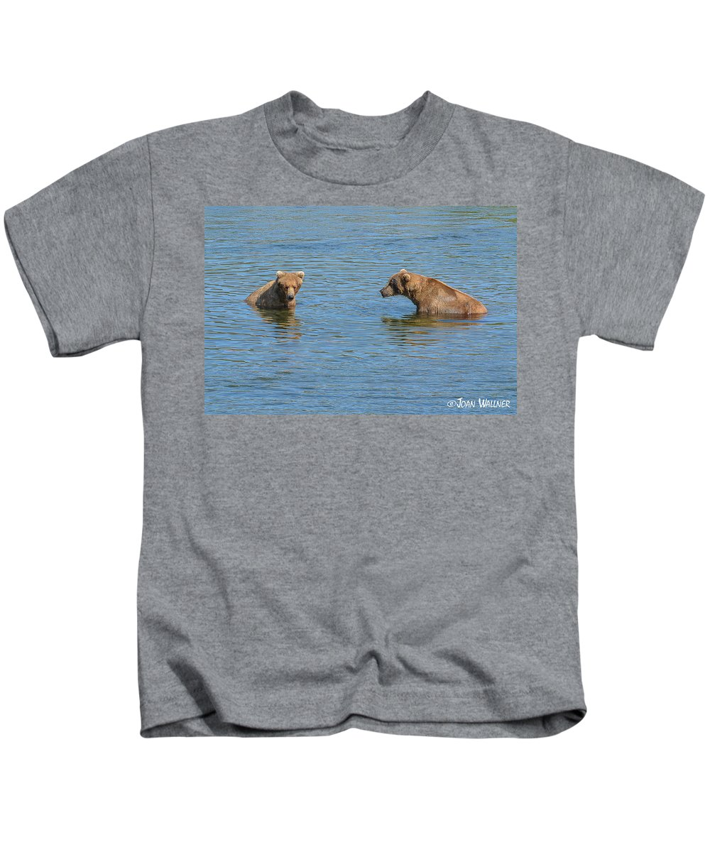 Alaska Kids T-Shirt featuring the photograph Affectionate Stare by Joan Wallner