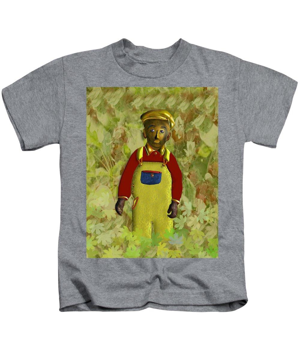 African American Kids T-Shirt featuring the digital art African American Kid Art by John Clarke