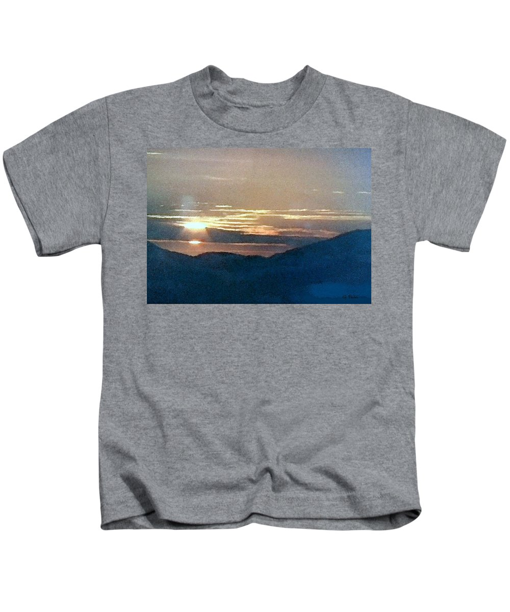 Africa Kids T-Shirt featuring the painting African Sunset by George Pedro