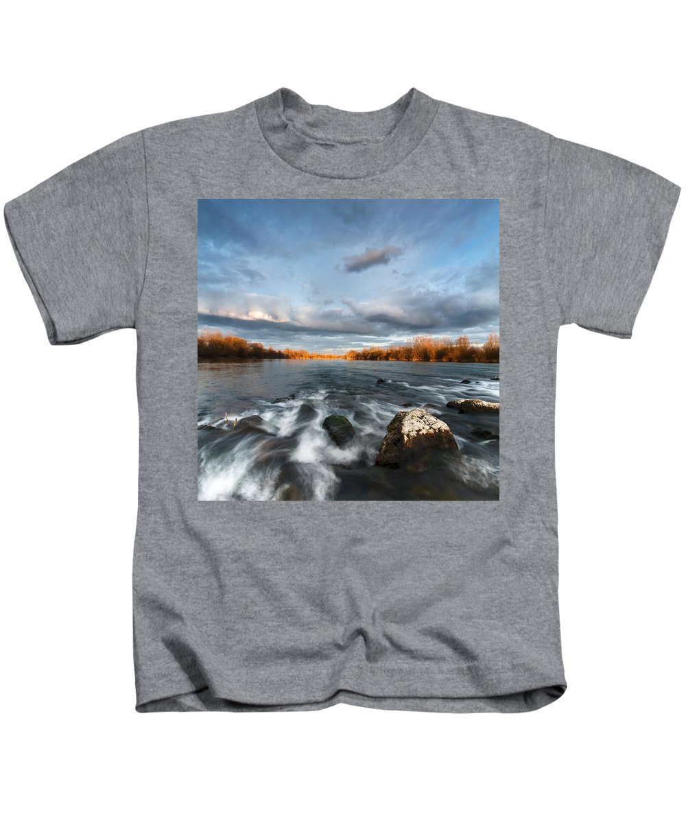 Landscapes Kids T-Shirt featuring the photograph After The Rain - Square by Davorin Mance