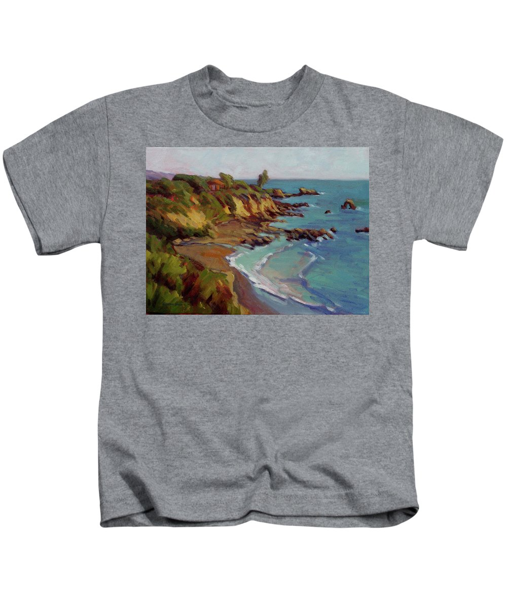 Laguna Kids T-Shirt featuring the painting Afternoon Glow 1 by Konnie Kim