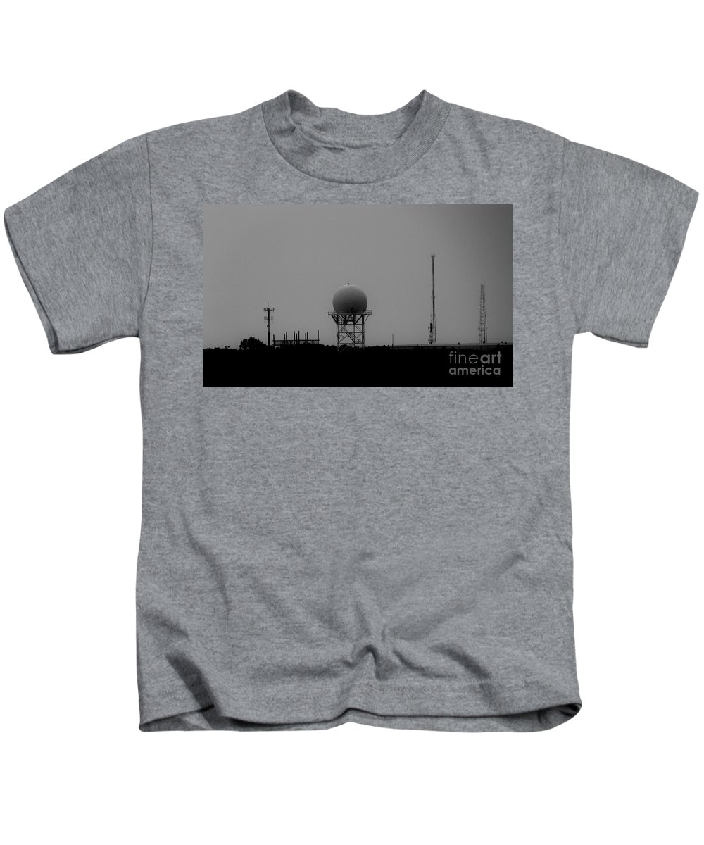Black And White Kids T-Shirt featuring the photograph Airport Gcm by Amar Sheow