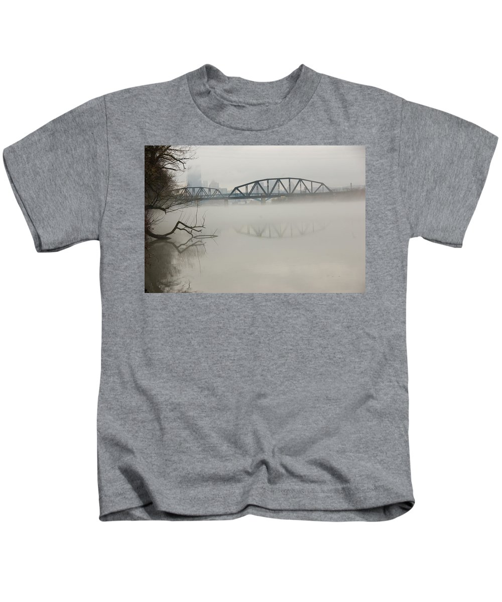 Landscape Kids T-Shirt featuring the photograph Allegheny In The Mist by Jay Ressler