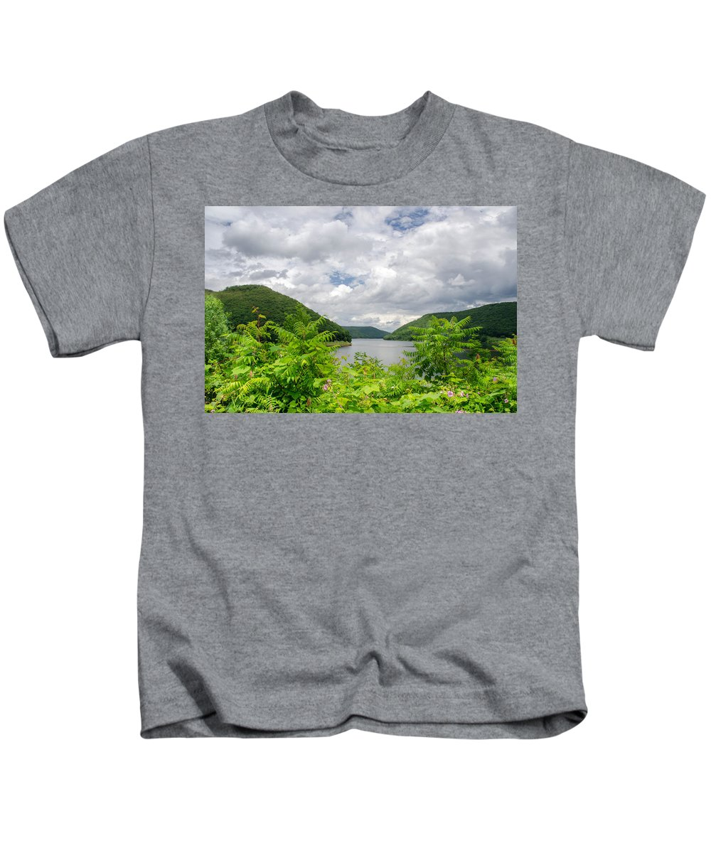 Allegheny Reservoir Kids T-Shirt featuring the photograph Allegheny Reservoir by Guy Whiteley