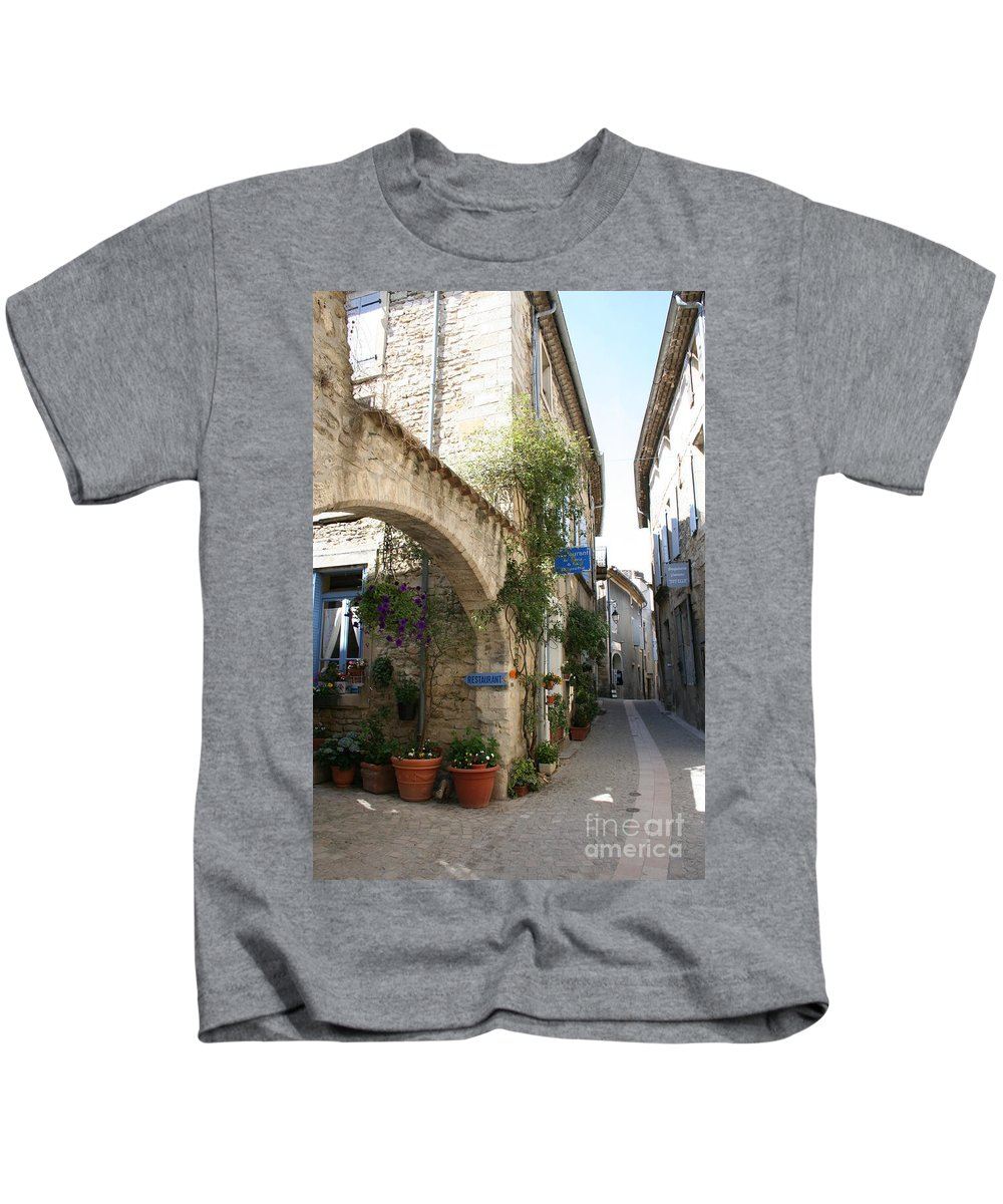 Alley Kids T-Shirt featuring the photograph Alley In The Procence by Christiane Schulze Art And Photography