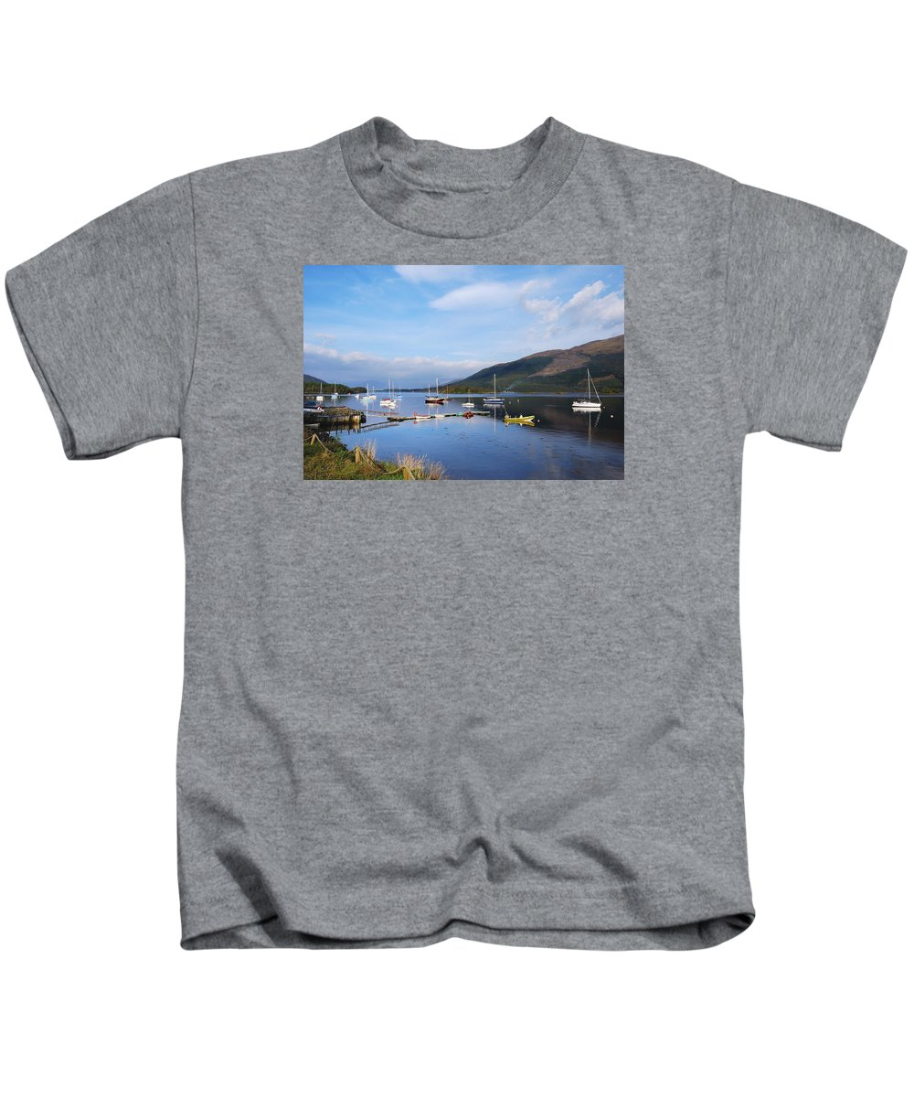 Along Loch Leven Ii Kids T-Shirt featuring the photograph Along Loch Leven 2 by Wendy Wilton