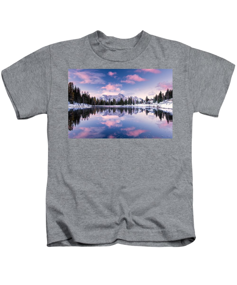 Antorno Kids T-Shirt featuring the photograph Alpine Pink by Michael Blanchette