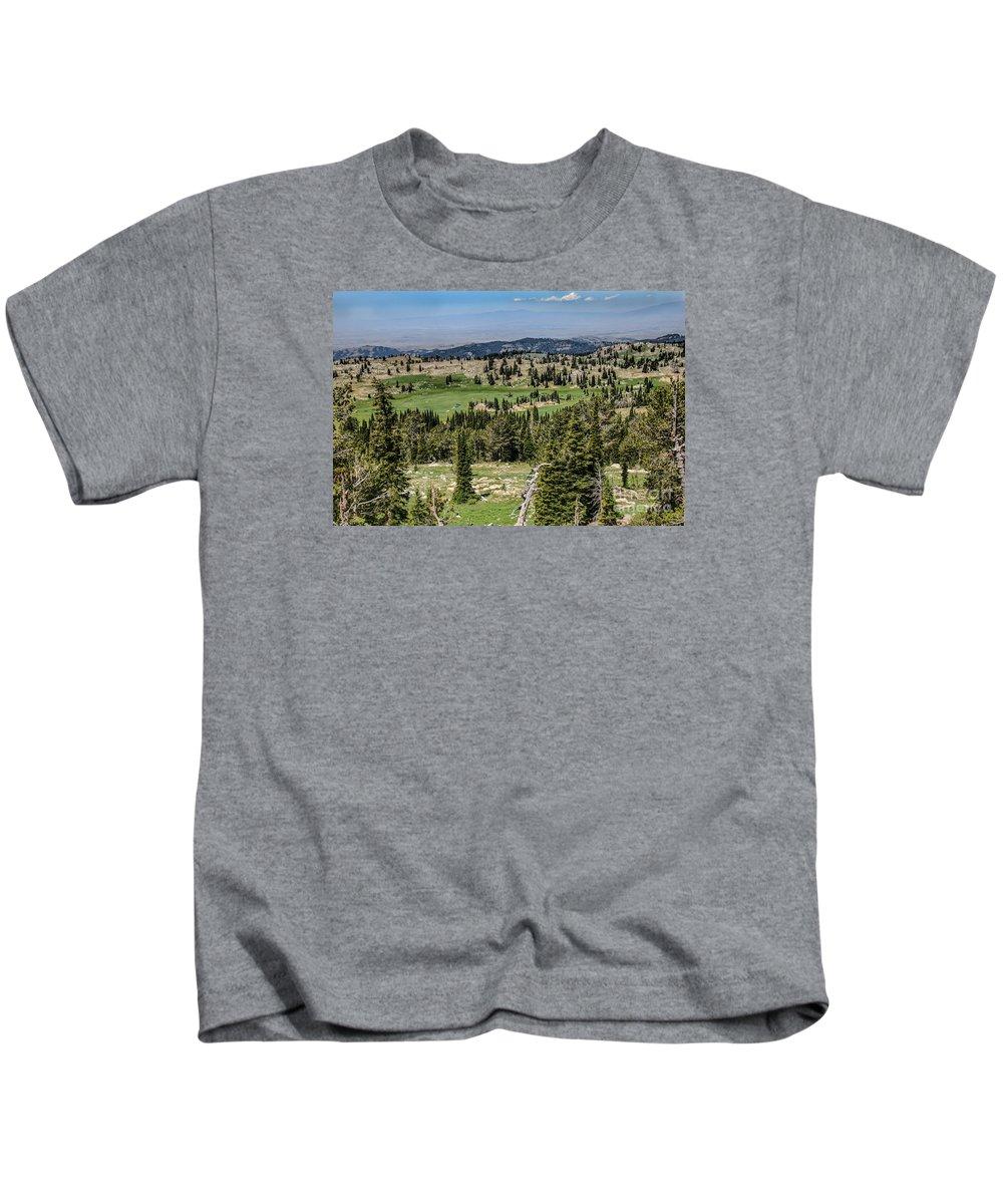Southwest Idaho Kids T-Shirt featuring the photograph Alpine View by Robert Bales