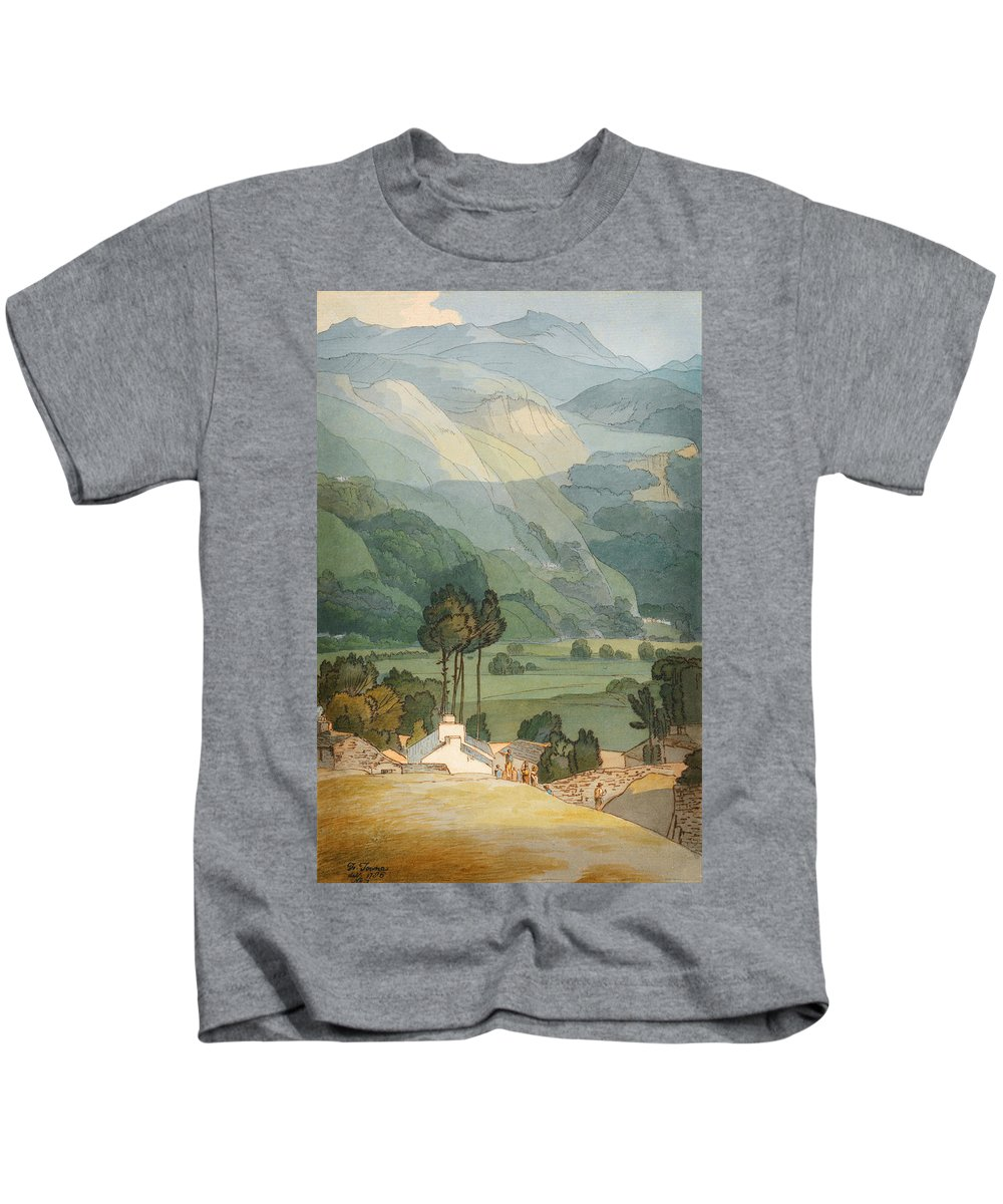 Amblesidefrancis Towne Kids T-Shirt featuring the painting Ambleside by Celestial Images